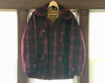 40's or 50's Woolrich Mackinaw Cruiser with Chinstrap (Size 38)