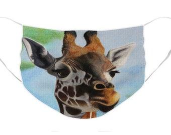 Giraffe Mask - Cloth Mask, Elastic Mask, Mask with Artwork