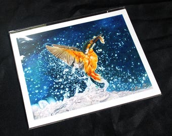 Kingfisher Colored Pencil Drawing - PRINT