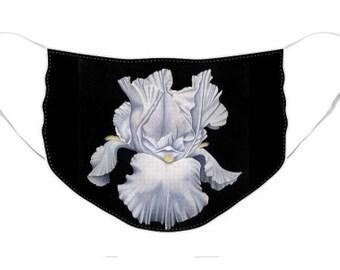 Majestic Iris Mask - Cloth Mask, Elastic Mask, Mask with Artwork