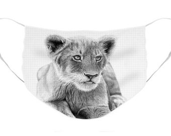 Lion Cub Mask - Cloth Mask, Elastic Mask, Mask with Artwork