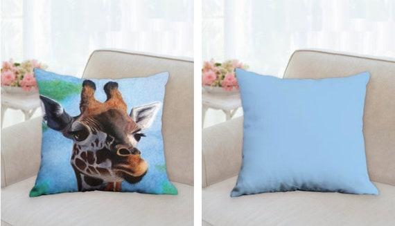 Giraffe Art Pillow Giraffe Throw Pillow