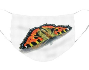 Butterfly 2 Mask - Cloth Mask, Elastic Mask, Mask with Artwork