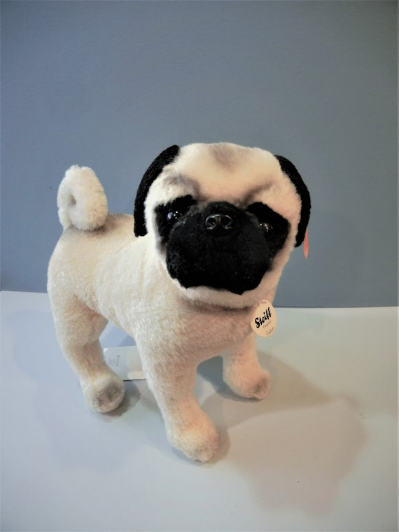 Steiff Lielou Pug Plush White 045042