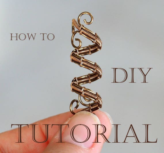 Tutorial Wire weaving Dread bead Wire wrapping Wrapped How to make ...
