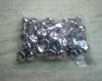 """20mm 3/4"""" Silver Sleigh Bells QTY 40 - FREE SHIPPING"""
