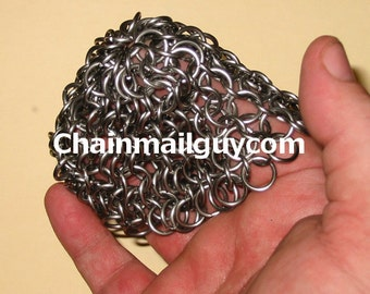 Chain Mail Scrubber Stainless Steel Round Free Shipping