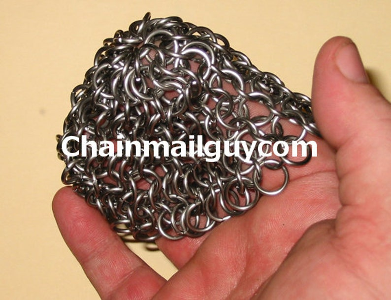 Chain Mail Pot Scrubber Stainless Steel Round Free Shipping image 0