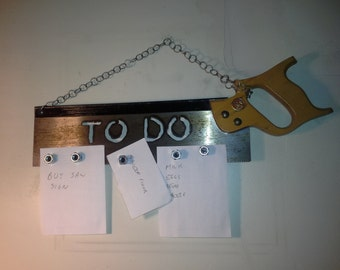 "Saw Sign ""To Do"" with Magnets"