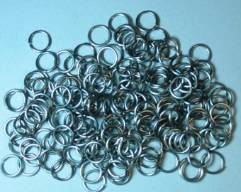 """Jump Rings Stainless .375"""" X .062"""" 3/8"""" X 14AWG QTY: 500 - Free Shipping"""