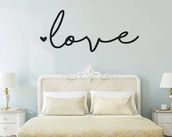 Love wall decal | Etsy