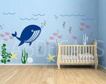ocean themed nursery etsy