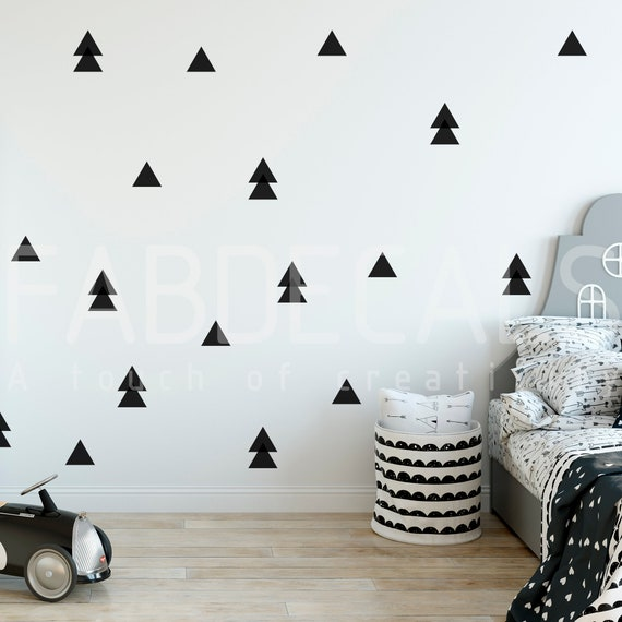 Bedrooms Nursery Decor Peel and Stick Triangles Wall Decals For Kids Rooms Wall Sticker Decor  Indoor Wall Decals indoor wall Triangles