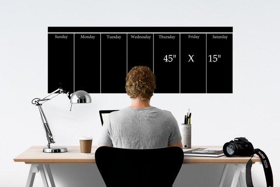 Wochenkalender Wandkalender Wandtattoo Tafel Tafel Tafel Etsy