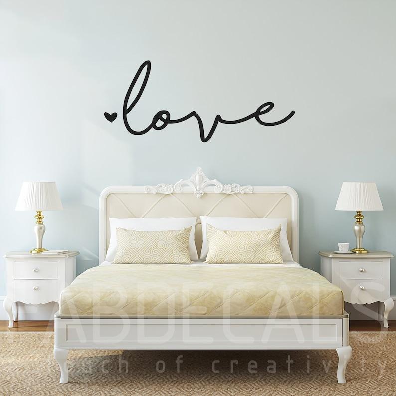 Love Wall Decal, Bedroom Decor, Love Wall Sticker, Living Room Wall Decals,  Love Wall Decor - ID372