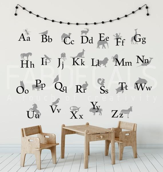 Alphabet Wall Decals Labeldaddy