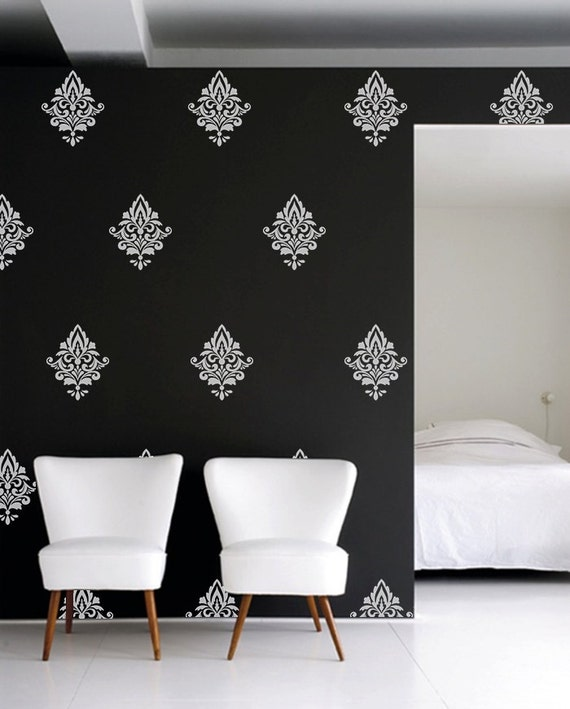 Damask Vinyl Wall Decal Home Decor Damask Wall Decal