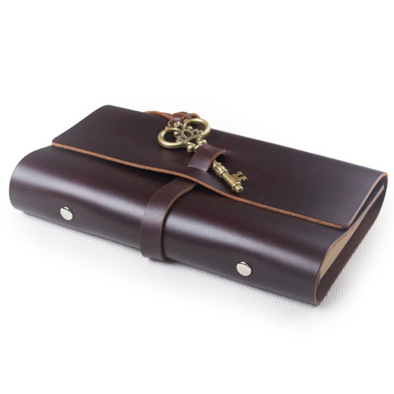 b95706546c336 Vintage Leather Journal Diary Notebook Refillable with Key