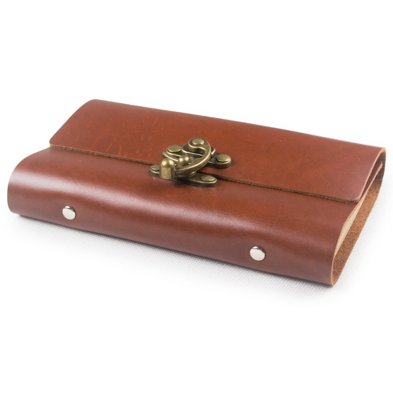 368b294841434 Vintage Leather Journal Refillable with Cool Lock Loose Leaf