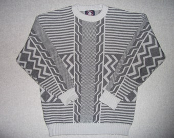 Aztec Hipster Vintage 80s 90s Sweater Ugly Christmas Party Tacky Gaudy X-Mas 1980s 1990s Holiday Winter Warm M Medium L Large