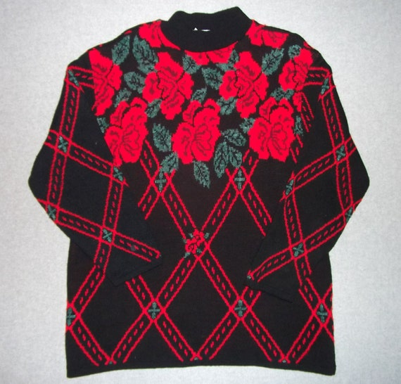 Thorny Roses Are Red Sweater Valentines Day Tacky Gaudy Ugly Etsy
