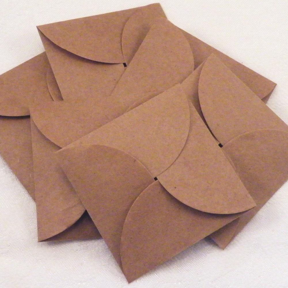 24 kraft envelopes petal envelope mini paper bag envelope etsy
