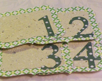 6 Journal Spots, Journal Spots, Scrapbooking, Journal Tag, Scapbook Notes, Journal Frames, Handmade Paper, Two Layers, Table Numbers 1 to 4