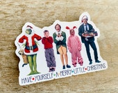 Christmas Movie Favorites Vinyl Sticker Movie Characters Have Yourself A Merry Little Christmas