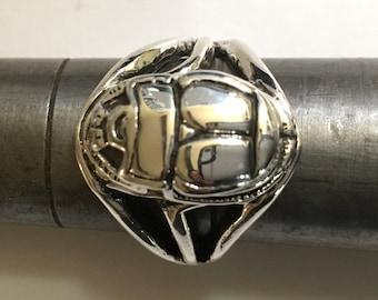 SCARAB BEETLE RING Size 5, 6, 7, 7.5, 8, 8.5,9,9.5, 10, 10.5, 11 egyptian ring, king tut ring, eternal life ring, mens ring, On Sale