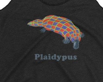 Plaid Platypus Tank, Platypus Tank, Plaid Tank, Plaid Platypus Pun Tank, Plaid Platypus Shirt, Cute Platypus Shirt, Adorable Platypus Shirt