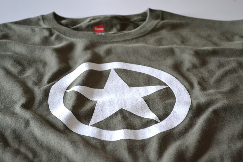 Star T Shirt Allied Forces Ww2 Wwii Military Tshirt World War Etsy