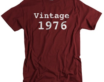 Vintage 1976 T-shirt Born in 1976 birthday 38th birthday 38 years old tee shirt for men gift for him gift for husband