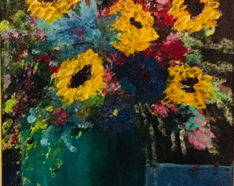 Impressionistic original acrylic painting