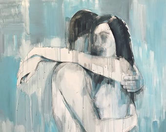 The Falling, original acrylic painting