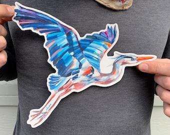 Decals Decal Blue Bird Head 20 13129