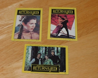 RARE 1983 Princess Leia star wars  80s vintage nonsports lot lando wicket Return of the Jedi trading cards from Holland