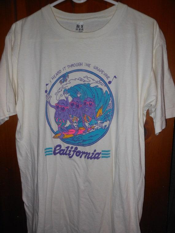 80s California Raisins vintage cali tourist t shir