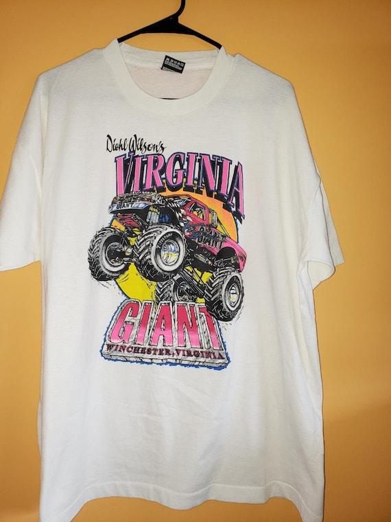 Virginia Giant monster truck t shirt - rare - scre