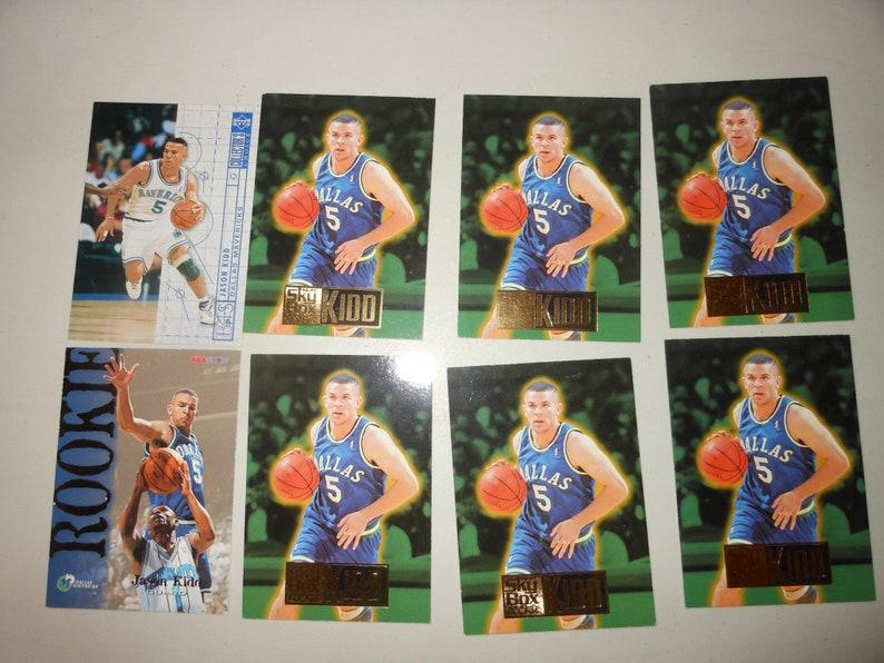 8 Jason Kidd Rookie Card Lot Hall Of Famer Dallas Mavericks Mavs