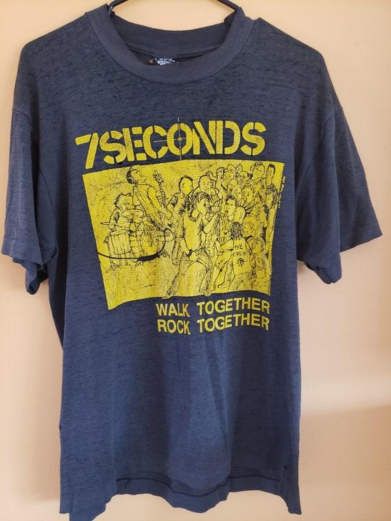 1984 7 Seconds t shirt - hardcore punk band  - XL
