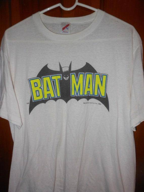1964 Batman logo t shirt - rare vintage late 70s X