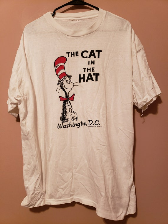 90s Cat in the Hat Washington DC tourist t shirt -