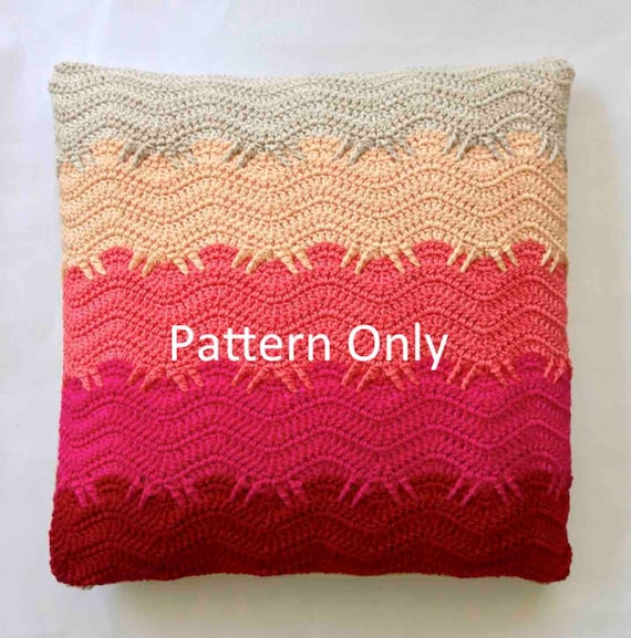 Cushion Colour Combinations: Crochet Pattern Finger Wave Cushion Orchid Colour Scheme