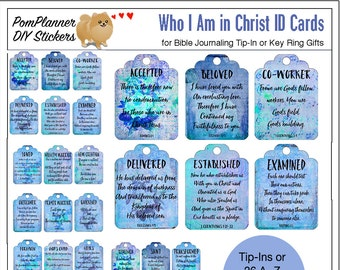 photo relating to Who I Am in Christ Printable titled SALE: Printable Who I am Within Christ Identification Bible Magazine Playing cards Etsy
