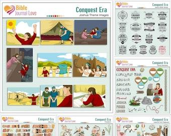 Conquest Era Journal Bundle  Both Digital 'n Printable. Bible Journal Class Available