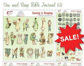 Sow & Reap Bible Journal Memory Dex Card Kit, Farm, Garden Clip Art  30 Bible Verses  BOTH Digital 'n Printable. Free Class included!