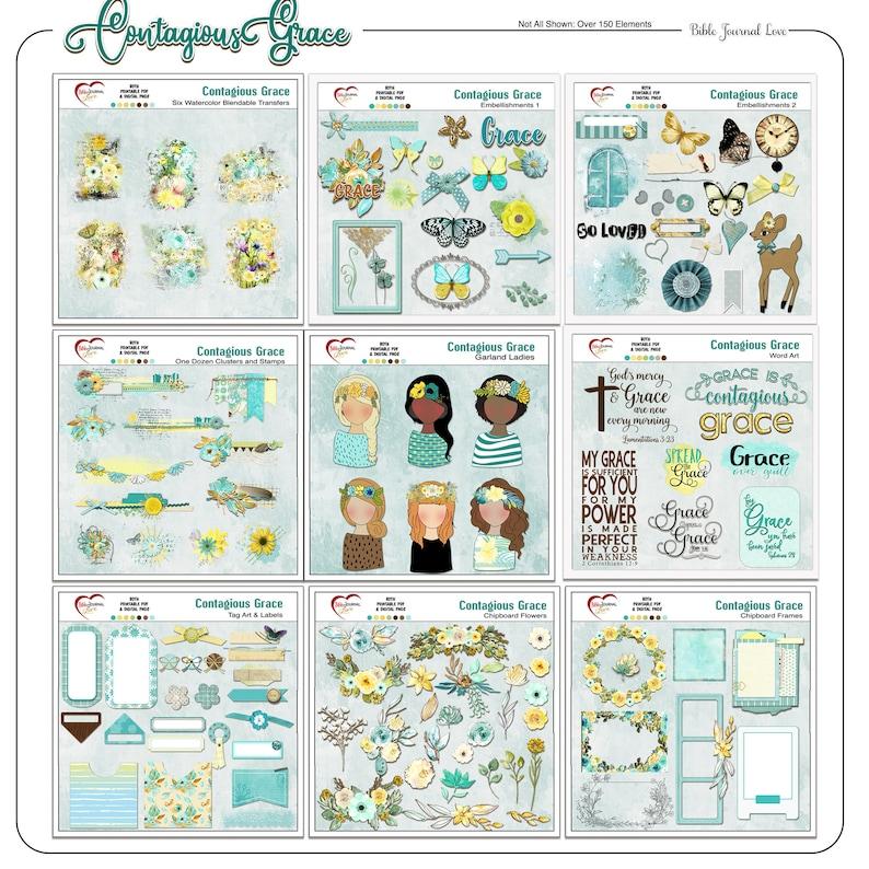 Contagious Grace Bible Journaling Kit Digital & Printable image 0