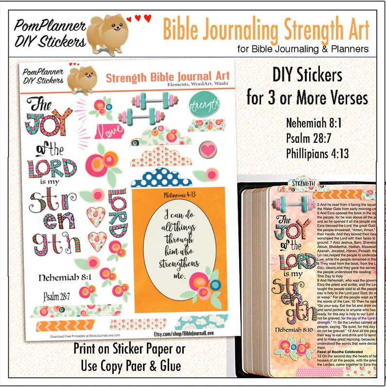 photo relating to Free Printable Bible Journaling Pages named Printable Electricity Bible Journaling Website page Package (Print upon Sticker or Replica Paper) Stick into Bible margins or Planners