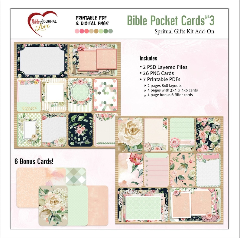 photo relating to Verse Mapping Printable named Pocket Bible Journaling Package 3: Verse Mapping, 2 PSD for Photoshop Aspects , Printable PDF Venture Daily life Sbook