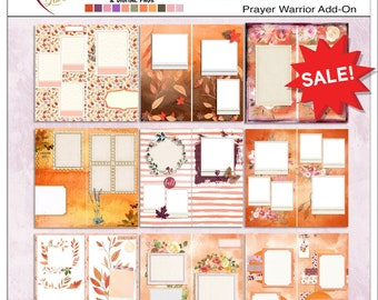 Junk Journal Travelers Notebook Pages  Printable PDFs in Fall Colors  or use Digitally as Backgrounds